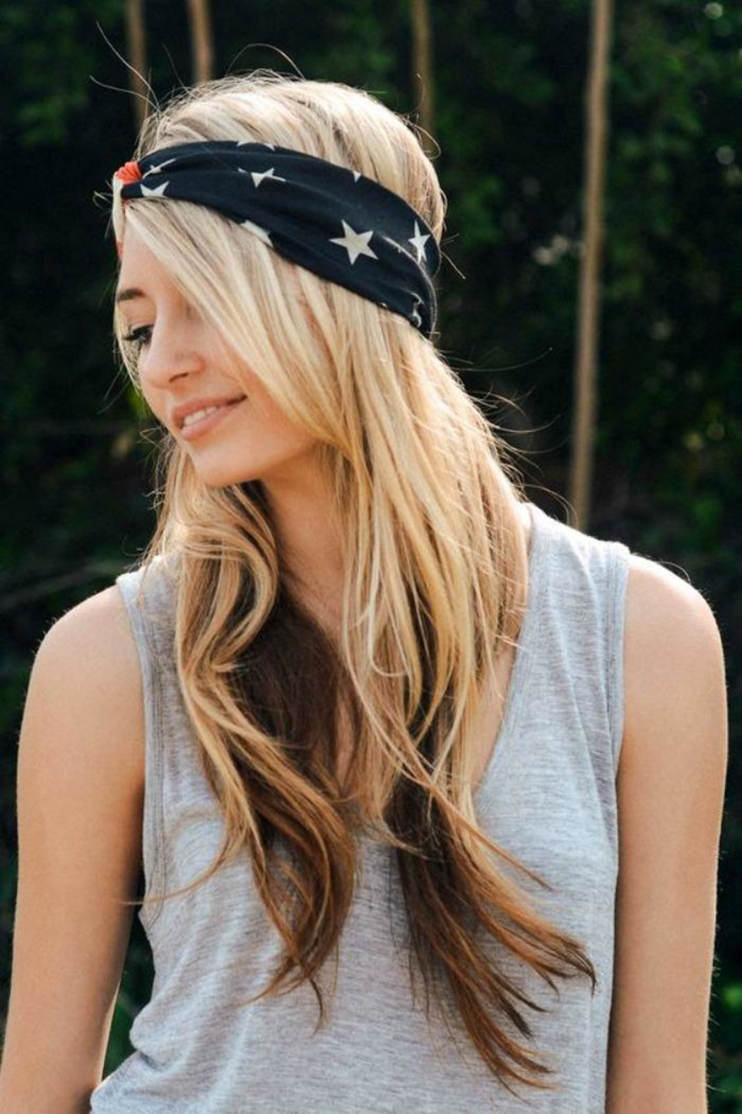 Leto American Flag Headband - Back Cropped Image