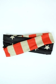 Leto American Flag Headband - Front full body