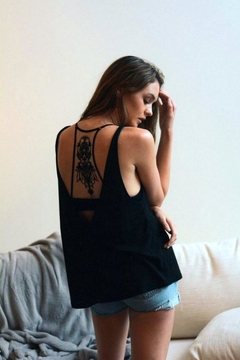 Leto Black Tattoo Bralette - Alternate List Image
