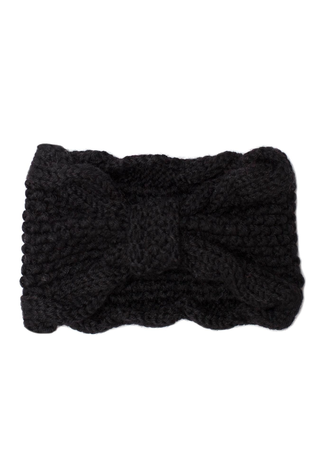 Leto Bow Knit Headband - Front Cropped Image