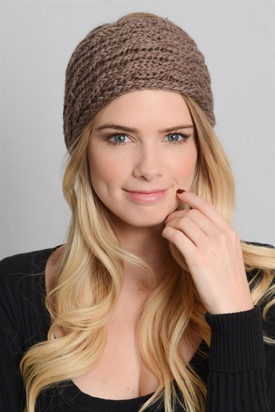 Leto Cableknit Winter Headwarmer - Front Cropped Image
