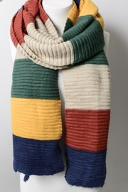 Leto Color Block Knit Scarf - Front full body