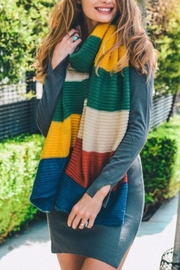 Leto Color Block Knit Scarf - Product Mini Image
