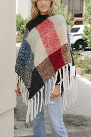 Leto Colorblock Tassel Poncho - Front cropped