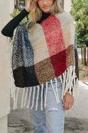 Leto Colorblock Tassel Poncho - Other