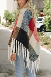 Leto Colorblock Tassel Poncho - Side cropped