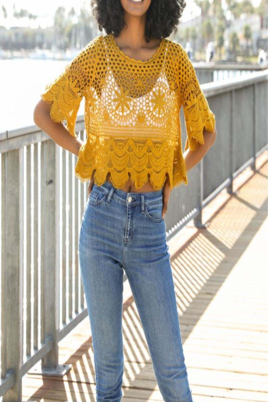 Leto Crochet Crop Top - Main Image