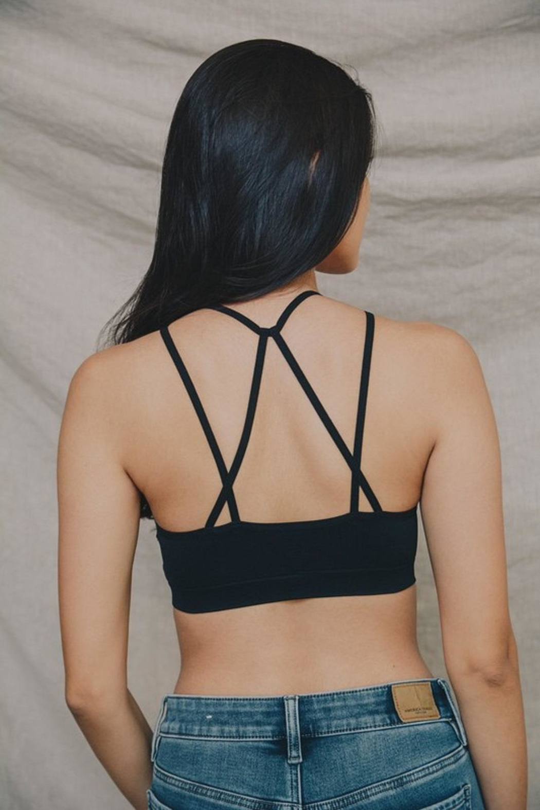 Leto Cut-Out Seamless Bralette - Side Cropped Image