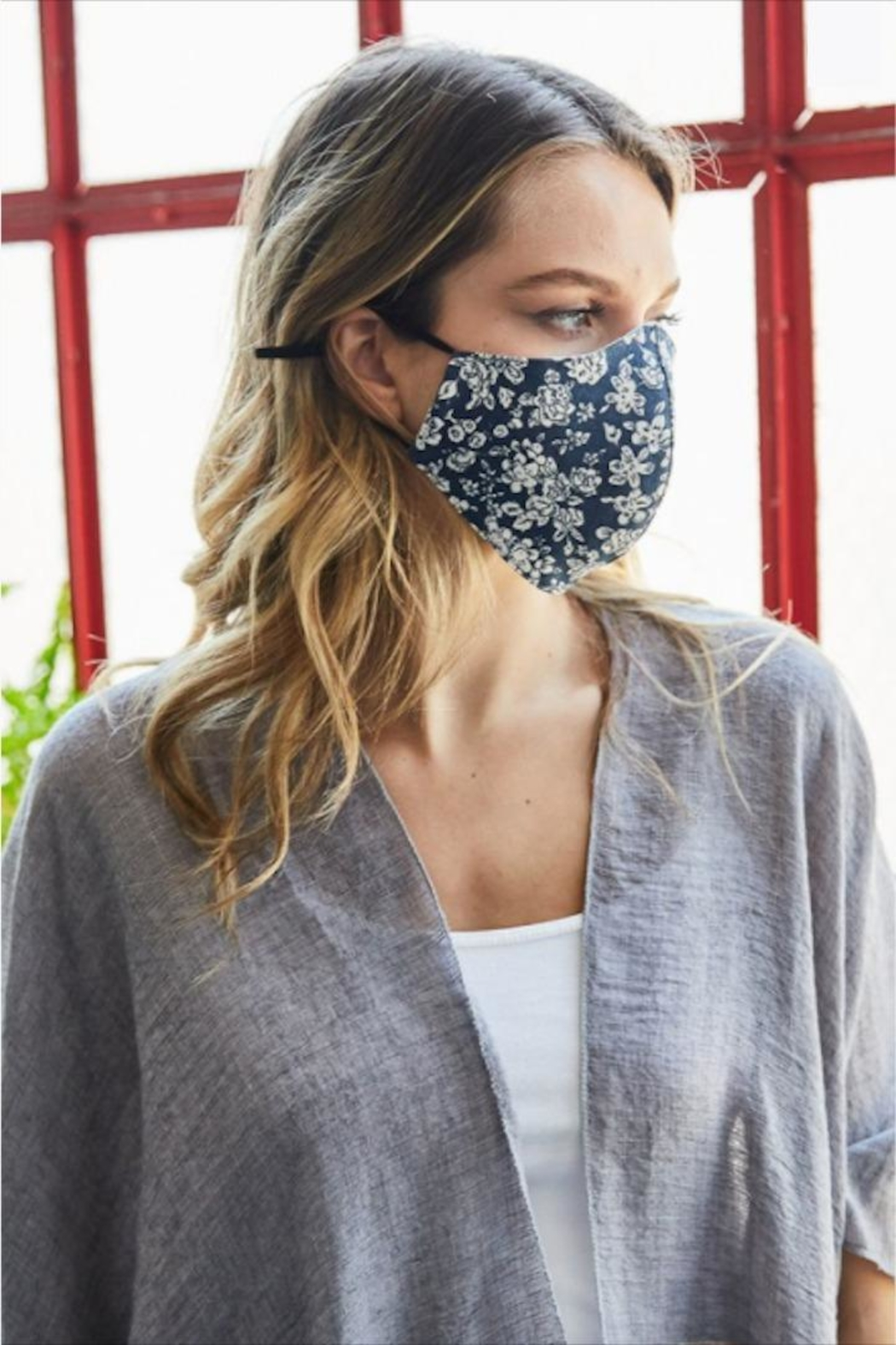 Leto Floral Protective Face-Mask - Front Full Image