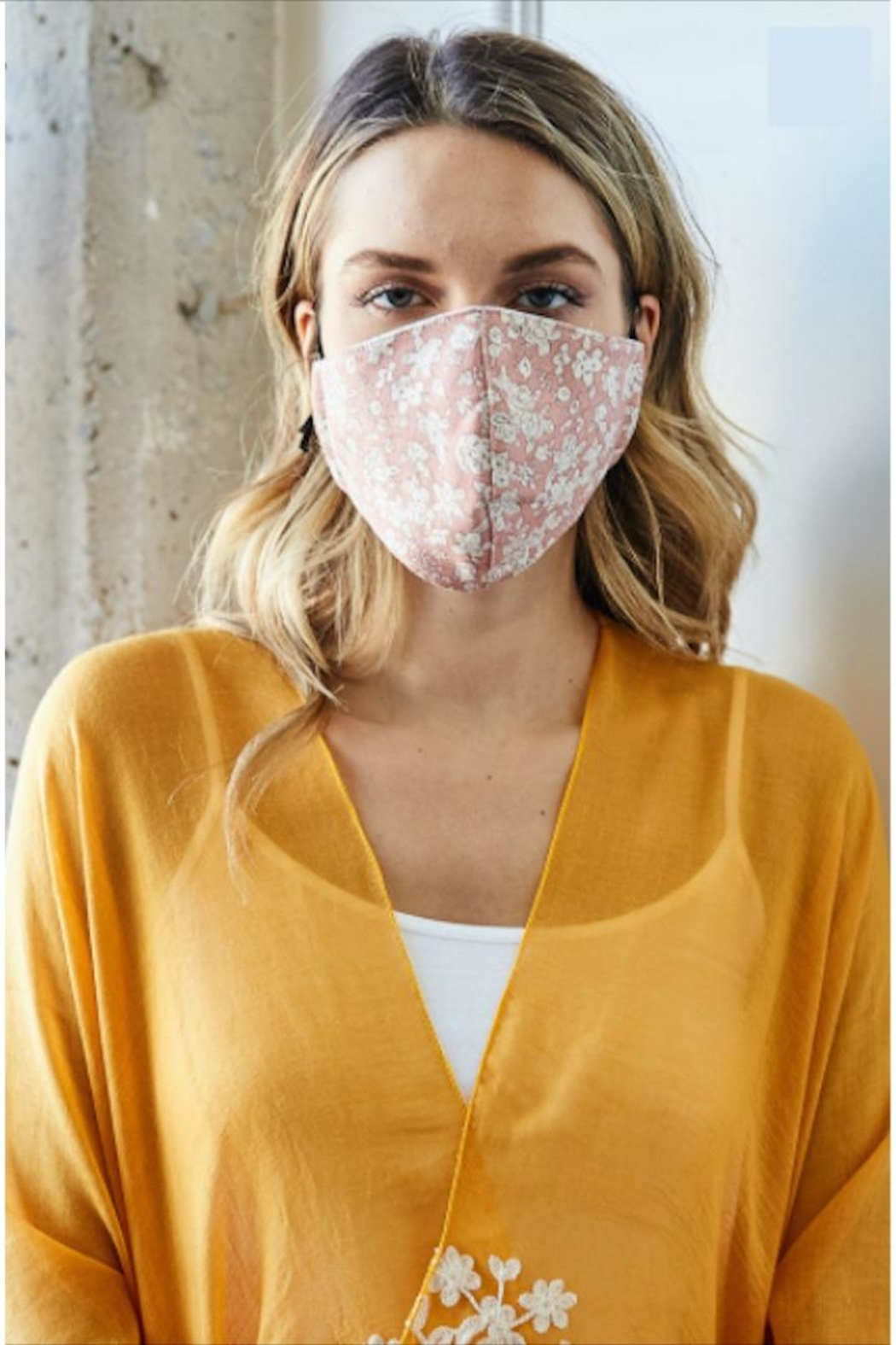 Leto Floral Protective Face-Mask - Front Cropped Image