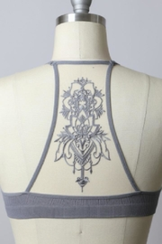 Leto Grey Tattoo-Back Bralette - Product Mini Image