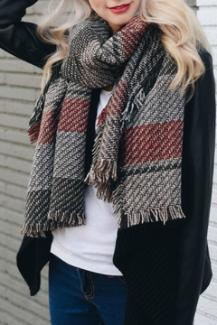 Shoptiques Product: Herringbone Frayed Scarf