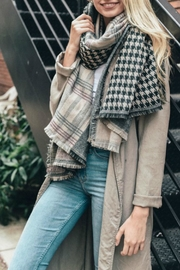 Leto Houndstooth Blanket Scarf - Product Mini Image