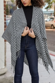 Leto Houndstooth Shawl Wrap - Product Mini Image