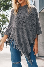 Leto Knit Lace Poncho - Product Mini Image