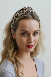 Leto Leopard Twist Headband - Product Mini Image