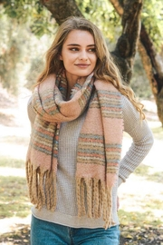 Leto Multi-Color Tassel Scarf - Product Mini Image