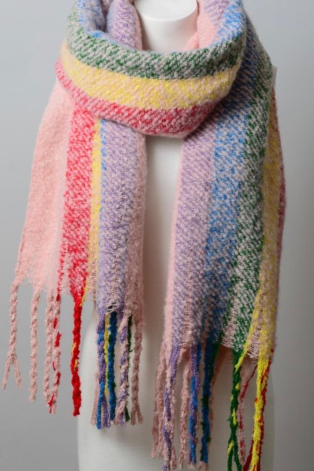 Leto Oversized Tassel Scarf - Side Cropped Image