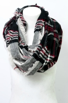 Shoptiques Product: Plaid Infinity Scarf