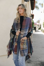 Leto Plaid Pocket Ruana - Product Mini Image