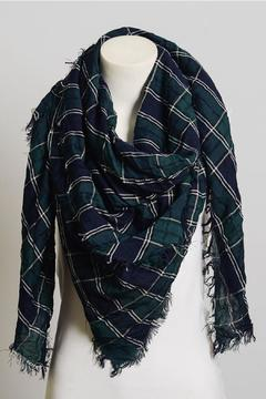 Leto Tartan Frayed Scarf - Alternate List Image