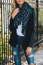 Leto Tartan Frayed Scarf - Product Mini Image