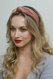 Leto Velvet Twist Headband - Front cropped