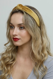 Leto Velvet Twist Headband - Front full body