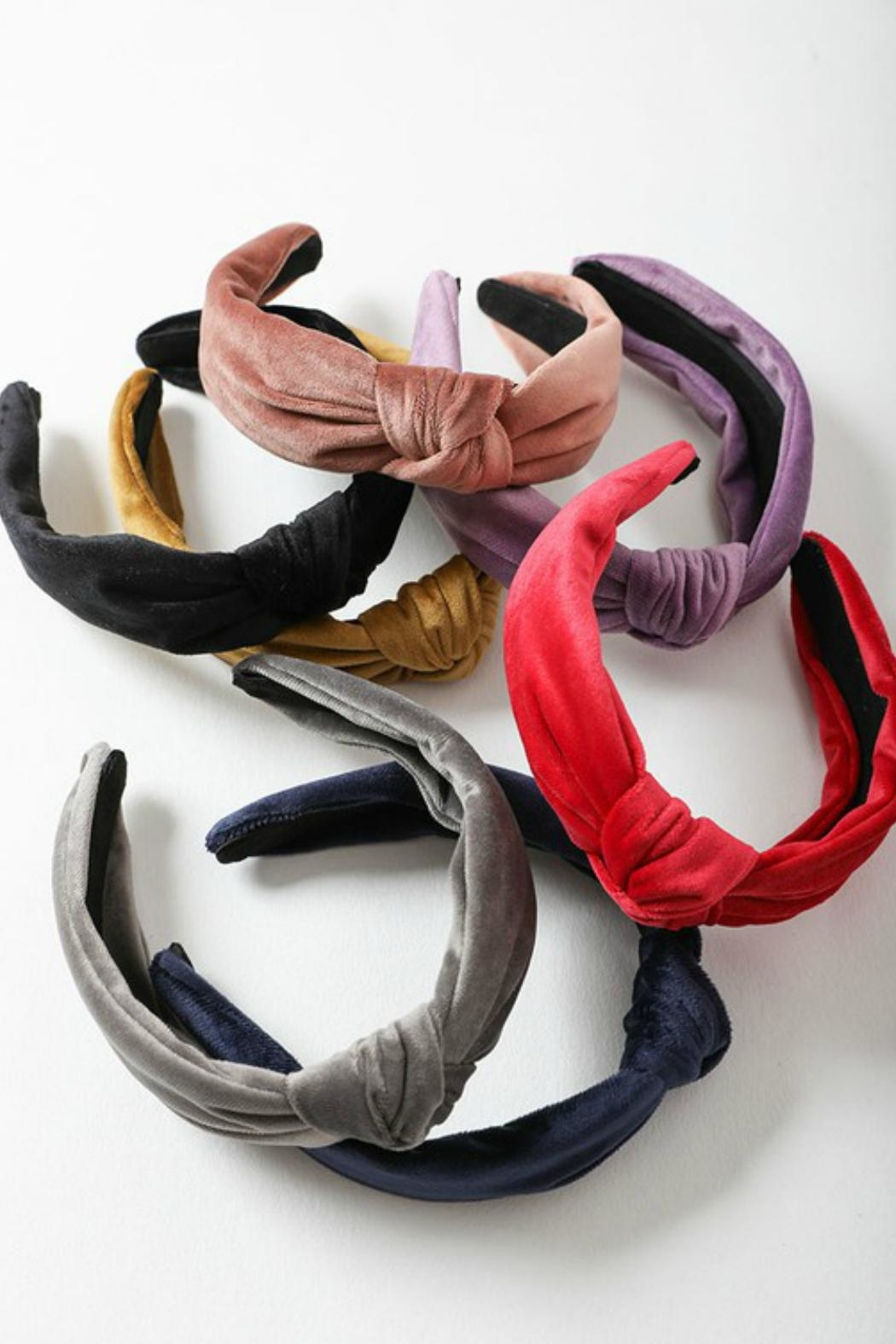 Leto Velvet Twist Headband - Side Cropped Image