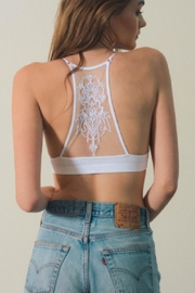 Leto White Tattoo-Back Bralette - Front full body