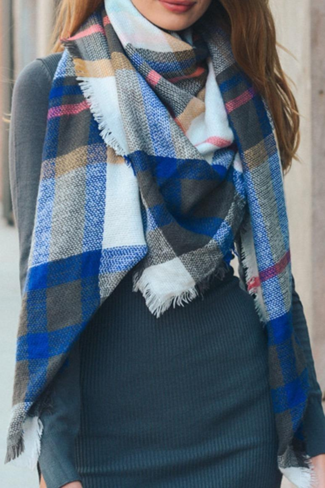 Leto Accessories Plaid Blanket Scarf - Main Image