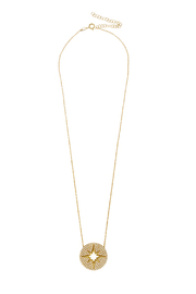 Lets Accessorize Crystal Sunburst Necklace - Front cropped