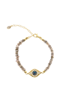 Lets Accessorize Evil Eye Beaded Bracelet - Product List Image