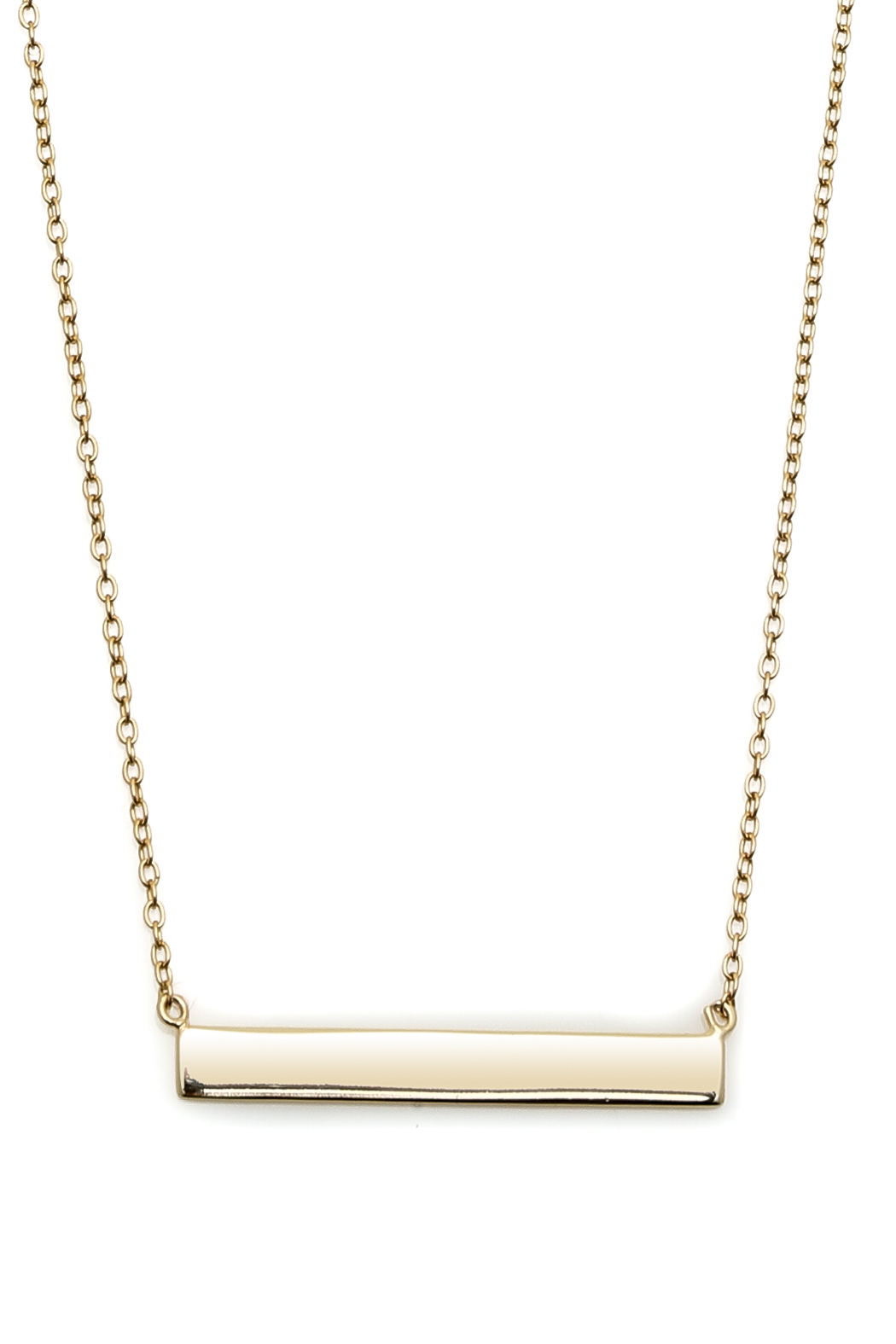 Lets Accessorize Horizontal Bar Necklace - Front Full Image