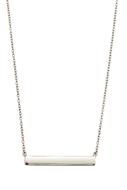Lets Accessorize Horizontal Bar Necklace - Front full body