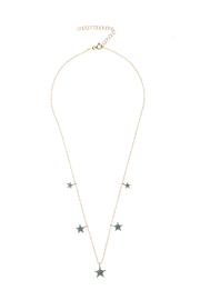 Lets Accessorize Multi Star Necklace - Product Mini Image