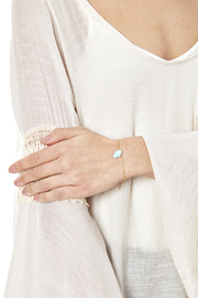 Lets Accessorize Opal Hamsa Bracelet - Back cropped