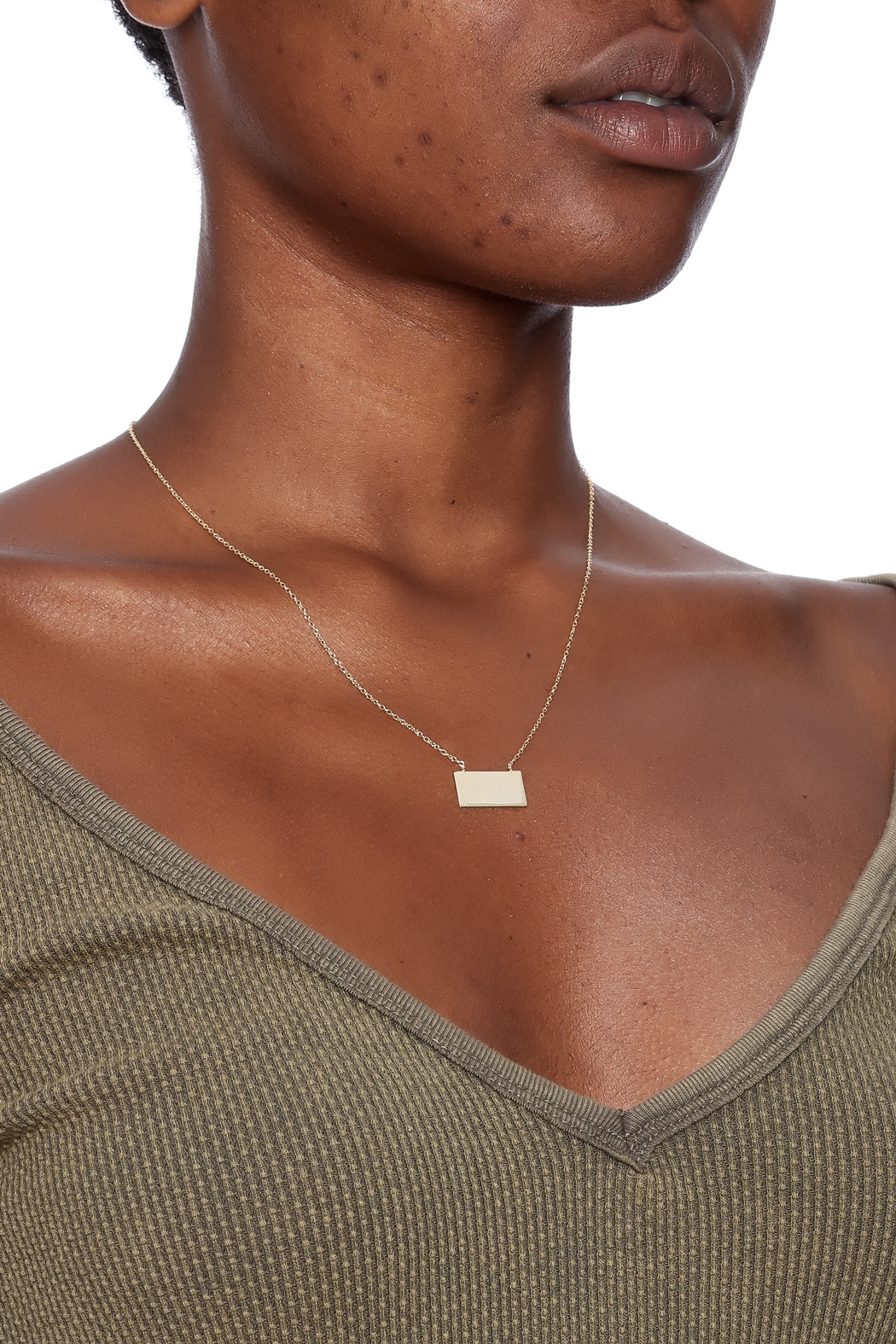 Lets Accessorize Trendy Bar Necklace - Back Cropped Image