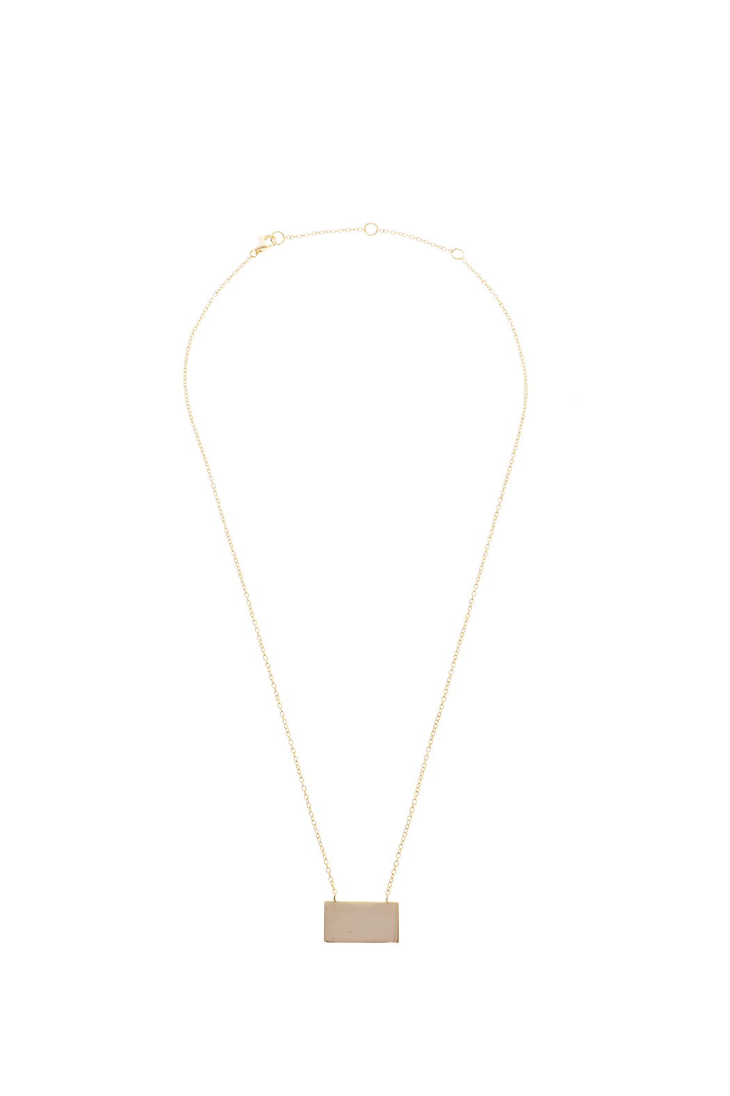 Lets Accessorize Trendy Bar Necklace - Front Cropped Image