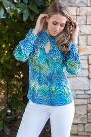 HALEBOB Lets Be Mermaids Snake Print Blouse - Product Mini Image