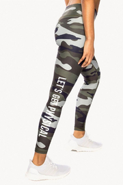 CHRLDR Lets Get Physical Camo Leggings - Product Mini Image