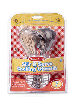 Melissa & Doug Lets Play House! Stir & Serve Cooking Utensils - Alternate List Image