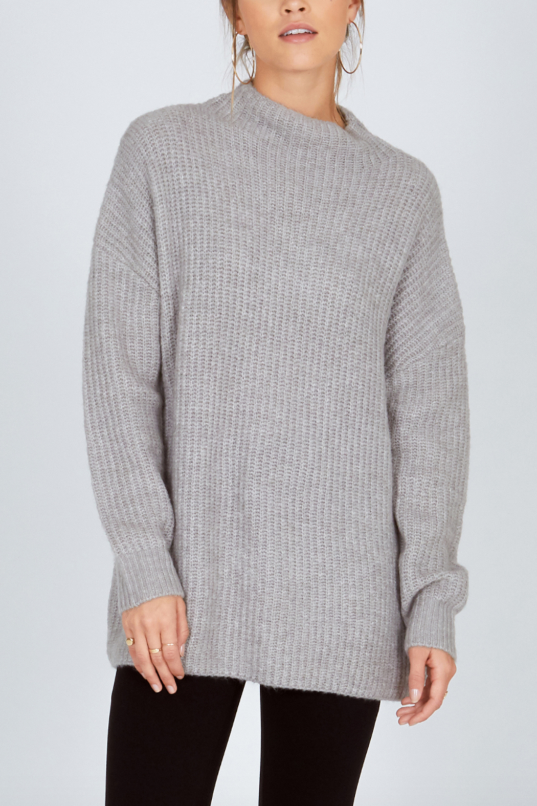 AMUSE SOCIETY Lets Snuggle Sweater - Front Cropped Image