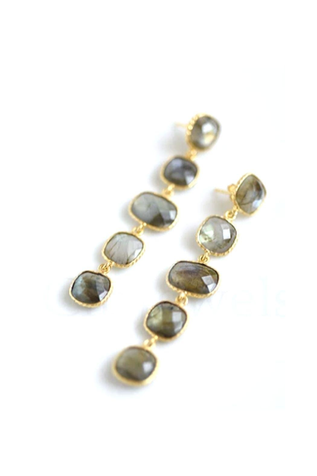 Lets Accessorize 5-Stoned Earrings - Main Image