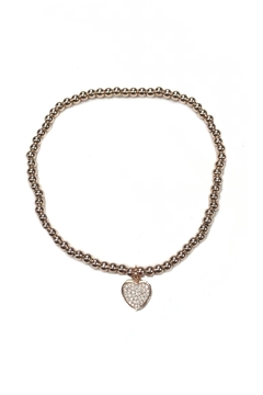 Shoptiques Product: Beaded Heart Anklet
