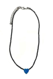 Lets Accessorize Beaded Heart Choker - Product Mini Image