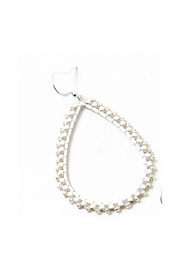 Lets Accessorize Beaded Tear Drop Hoop - Product Mini Image