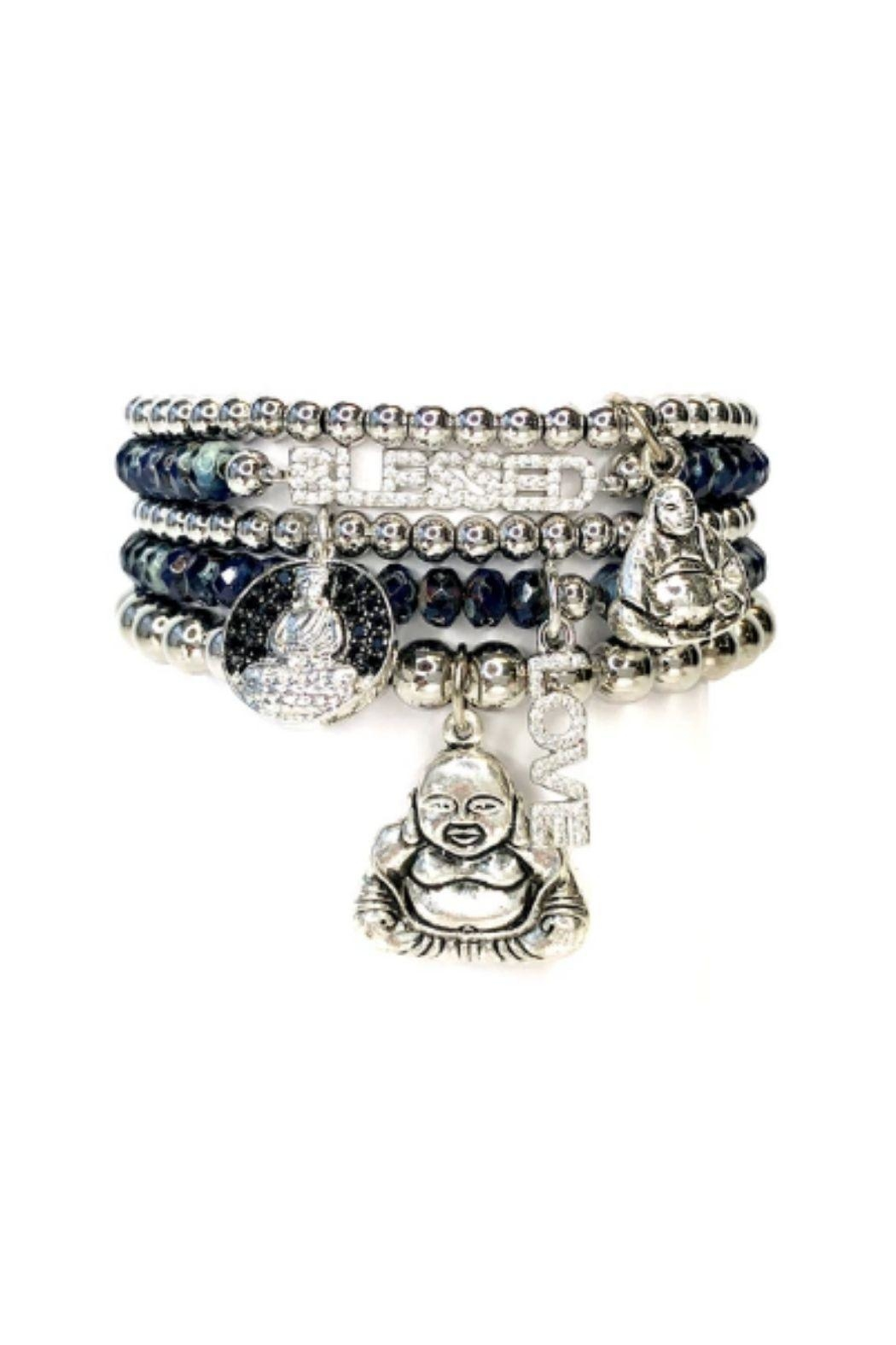 Lets Accessorize Blessed Buddha Beaded Stack - Main Image