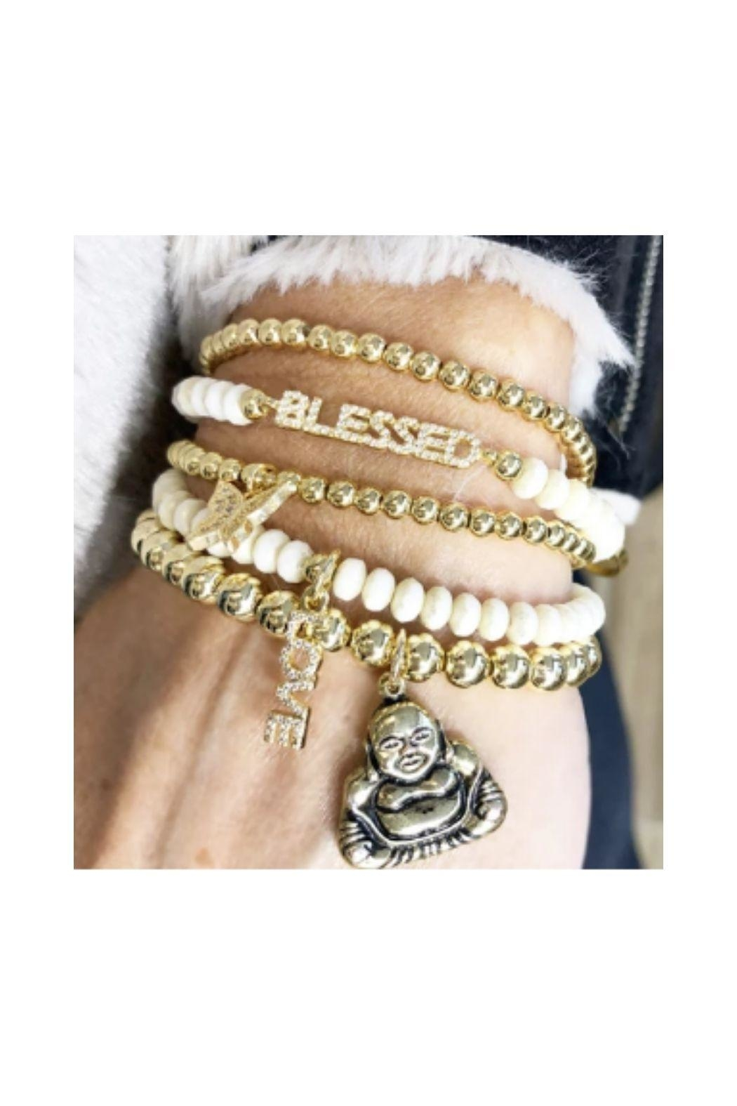 Lets Accessorize Blessed Buddha Beaded Stack - Front Full Image