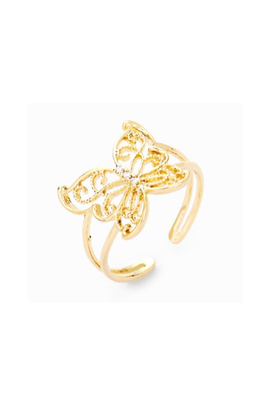 Lets Accessorize Butterfly Cuff Ring - Main Image